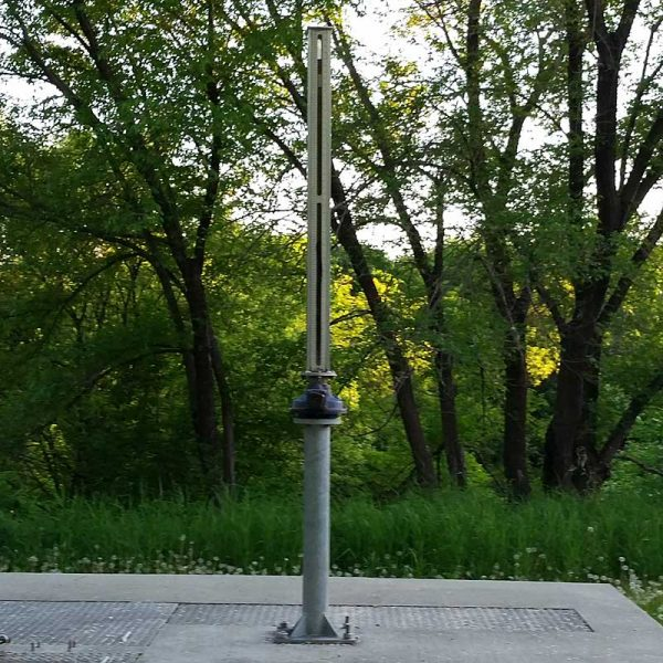 Water gauge in St Boniface Winnipeg
